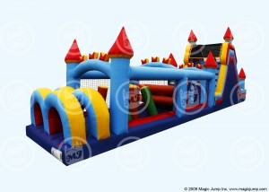 Inflatable Castle Obstacle Course Bounce House