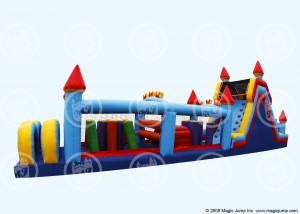 Kid's Castle Bouncer Obstacle Course