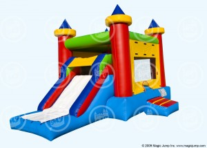kid's inflatable bouncer castle combo with slide